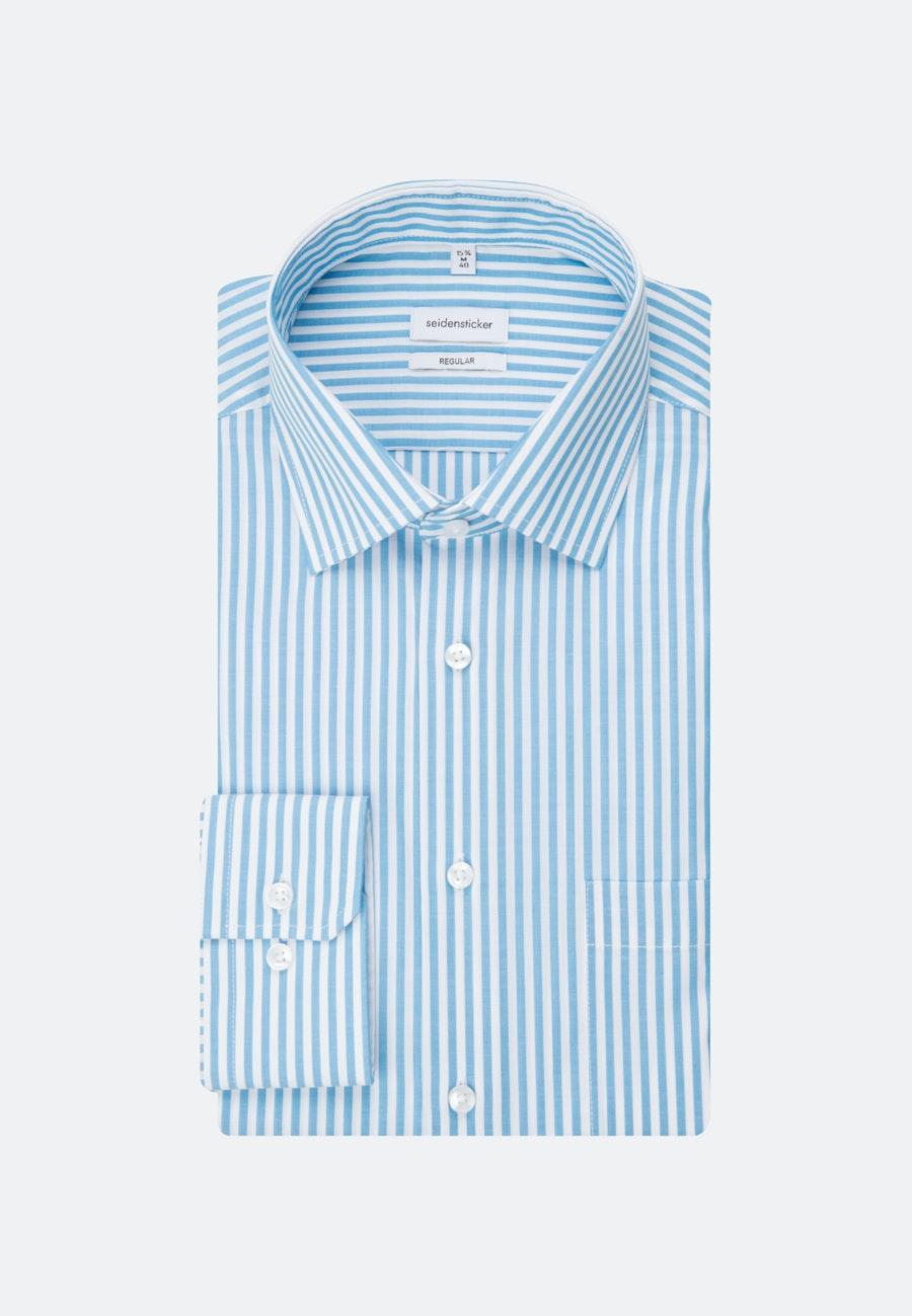 Non-iron Popeline Business Shirt in Regular with Kent-Collar in Turquoise    Seidensticker Onlineshop