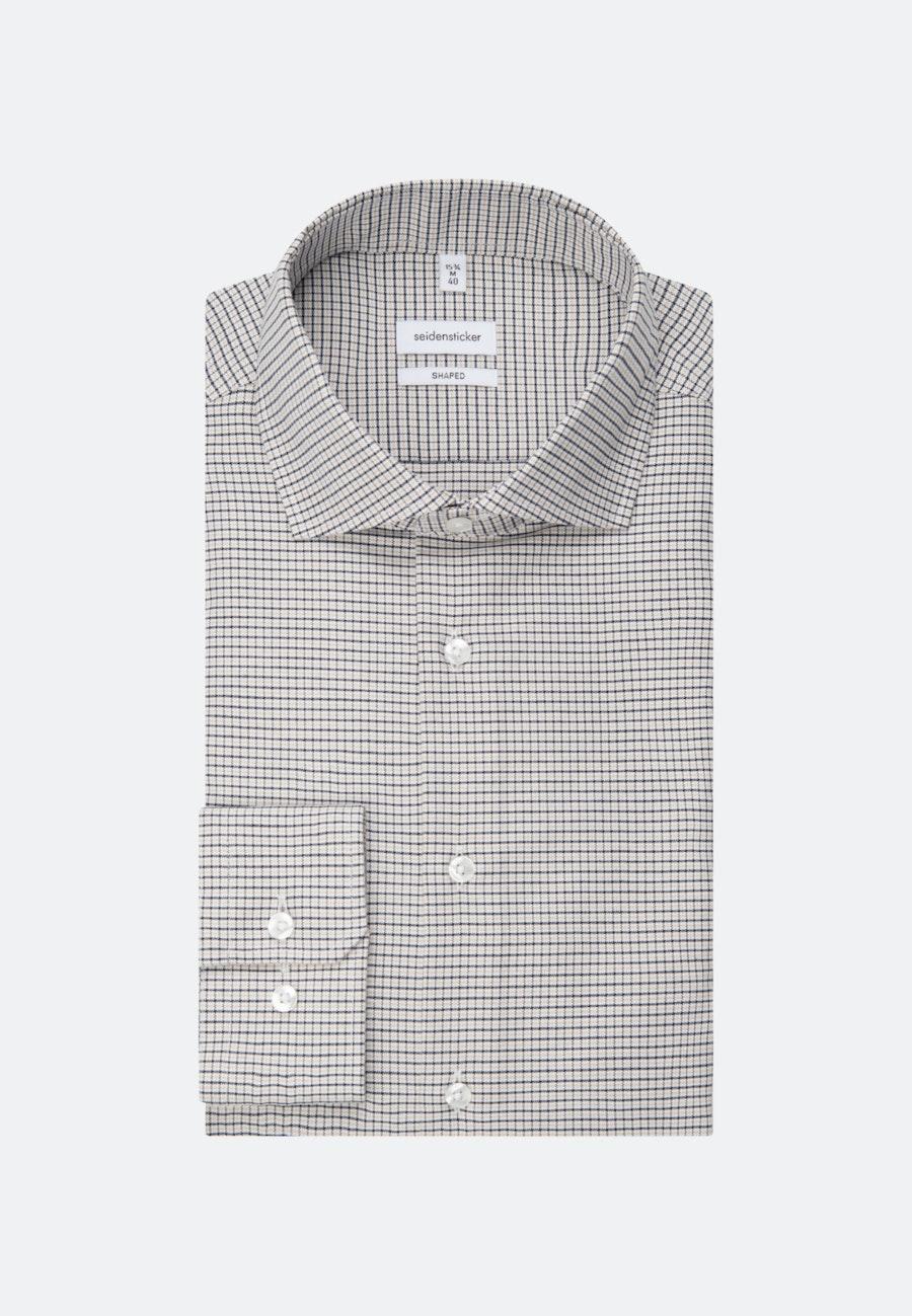 Bügelleichtes Oxford Business Hemd in Shaped mit Kentkragen in Braun |  Seidensticker Onlineshop