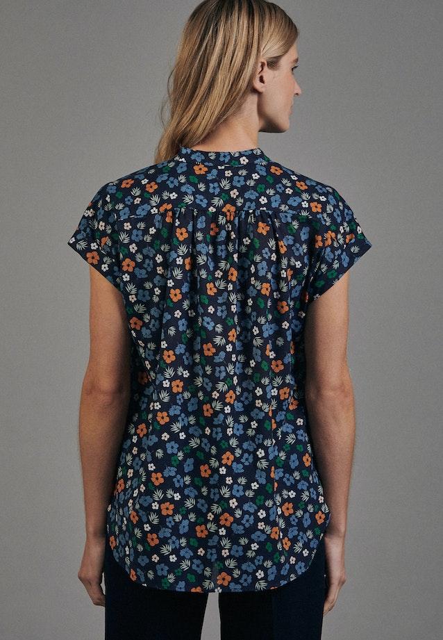 Sleeveless Voile Slip Over Blouse made of 100% Cotton in Dark blue |  Seidensticker Onlineshop