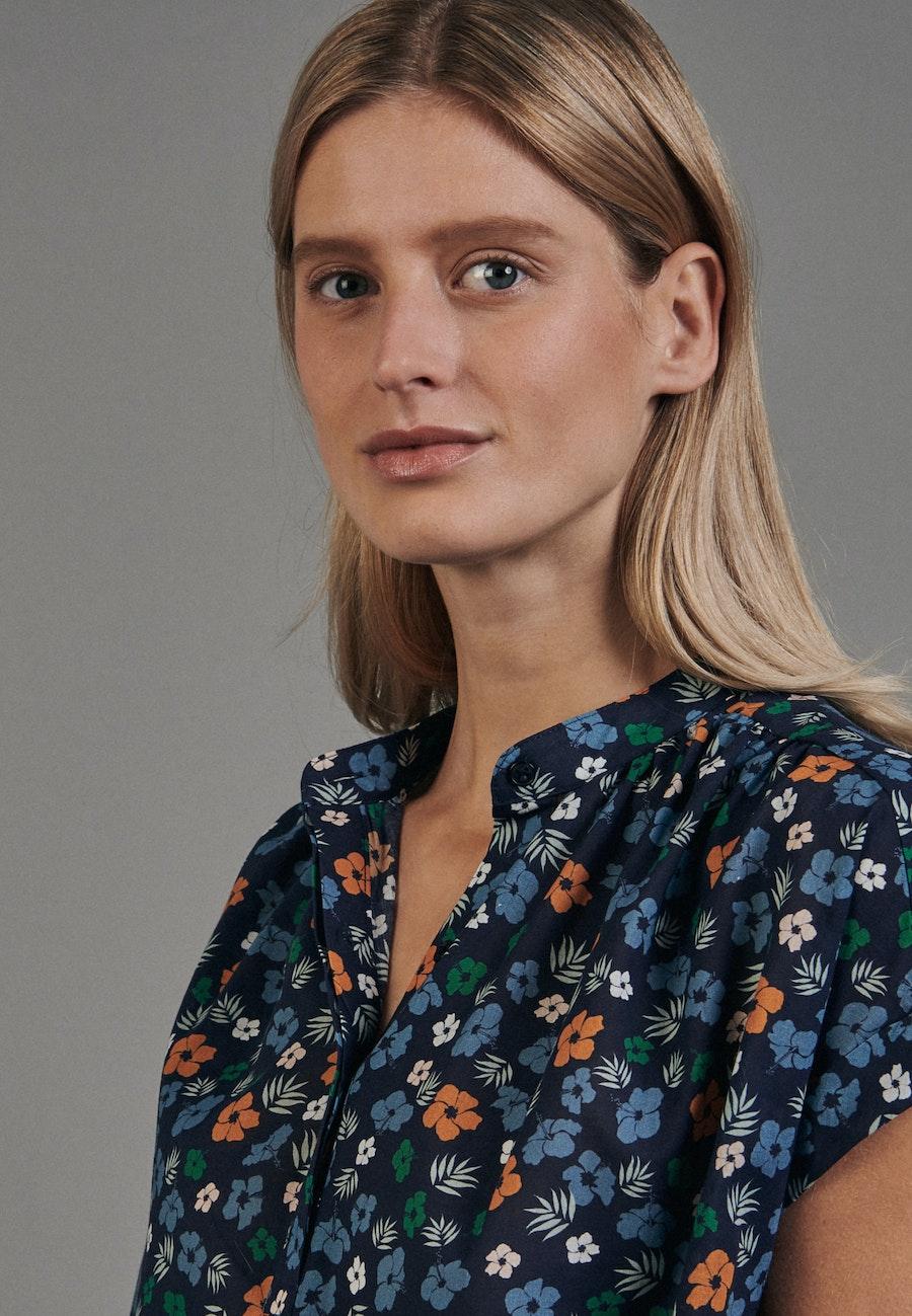Ärmellose Voile Schlupfbluse aus 100% Baumwolle in Dunkelblau |  Seidensticker Onlineshop