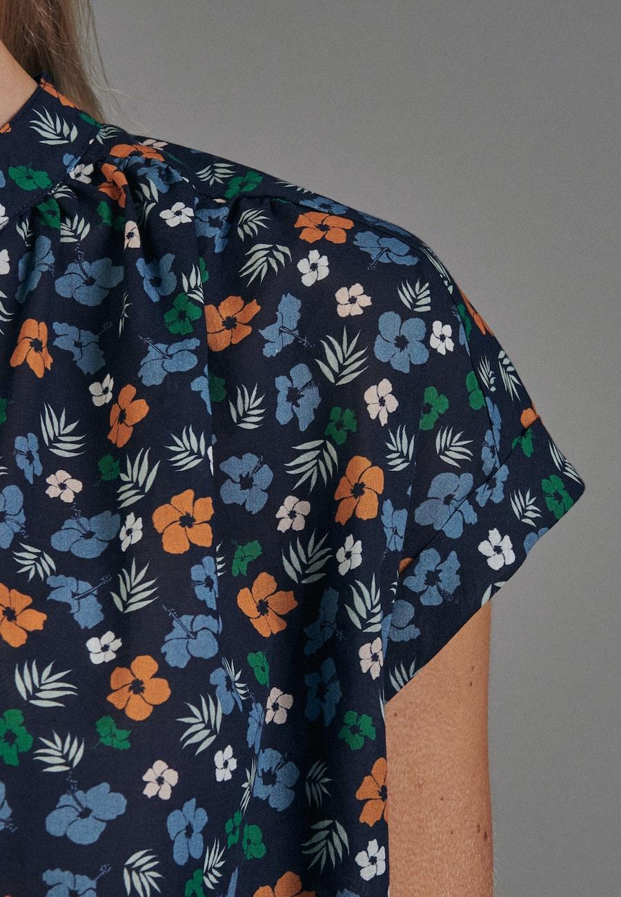 Sleeveless Voile Slip Over Blouse made of 100% Cotton in Dark blue    Seidensticker Onlineshop