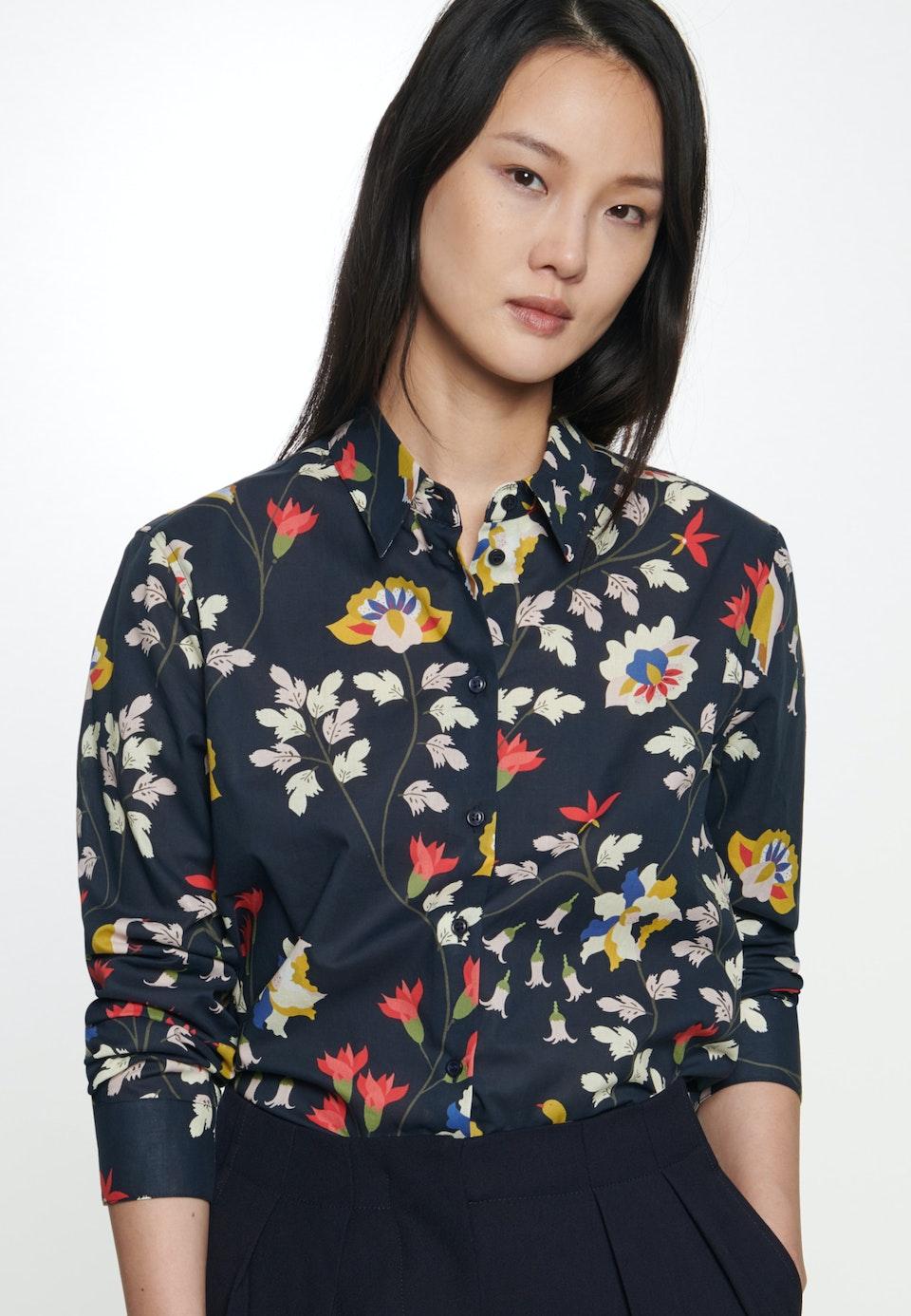 Voile Shirt Blouse made of 100% Cotton in Dark blue |  Seidensticker Onlineshop