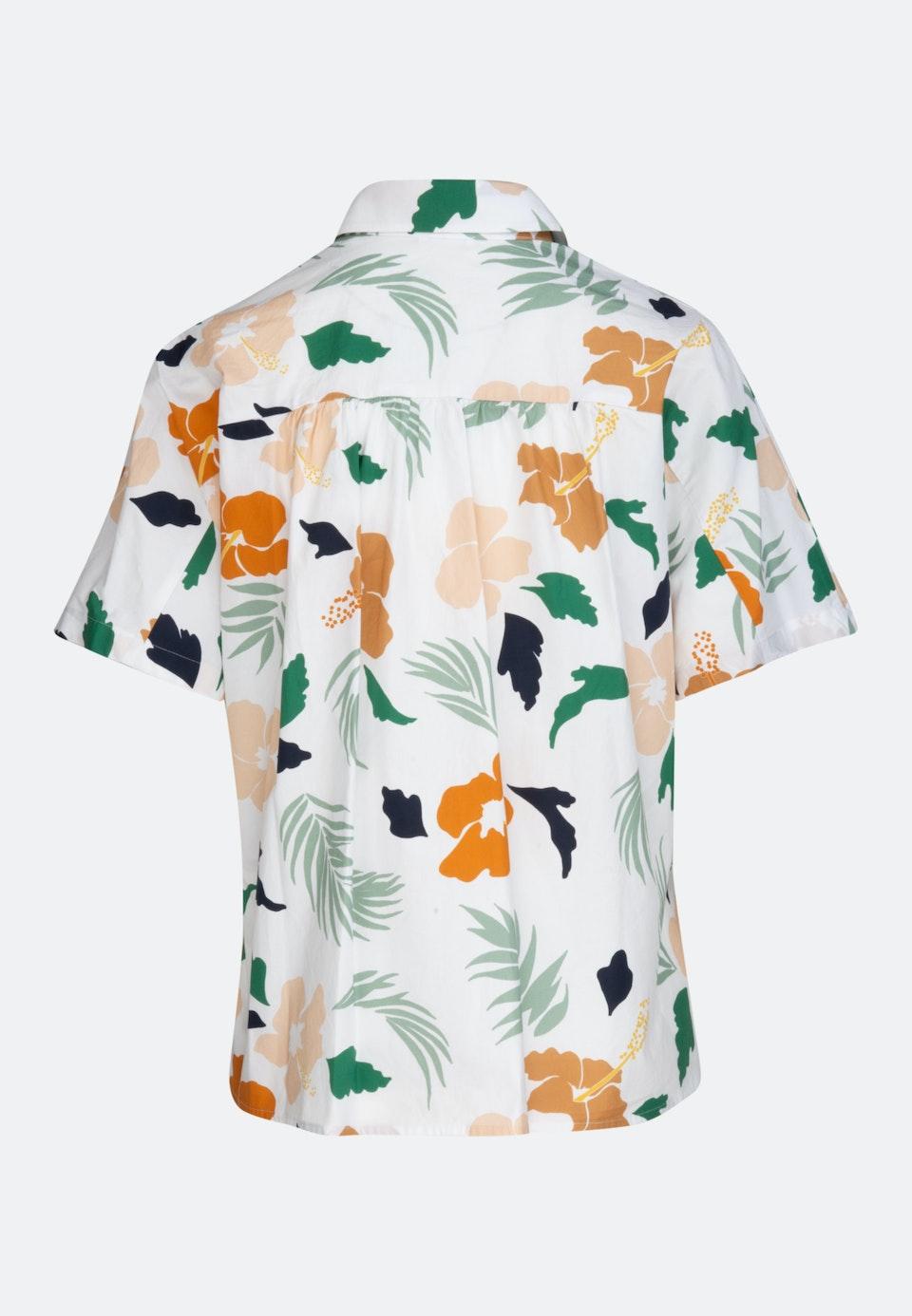 Short sleeve Voile Shirt Blouse made of cotton blend in Ecru |  Seidensticker Onlineshop