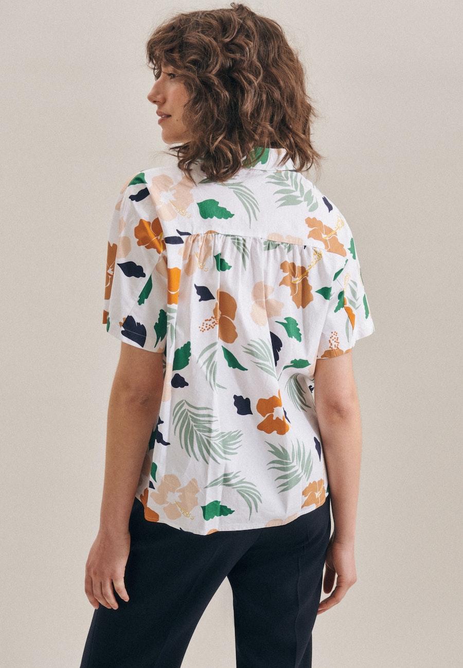 Kurzarm Voile Hemdbluse aus Baumwollmischung in Ecru    Seidensticker Onlineshop