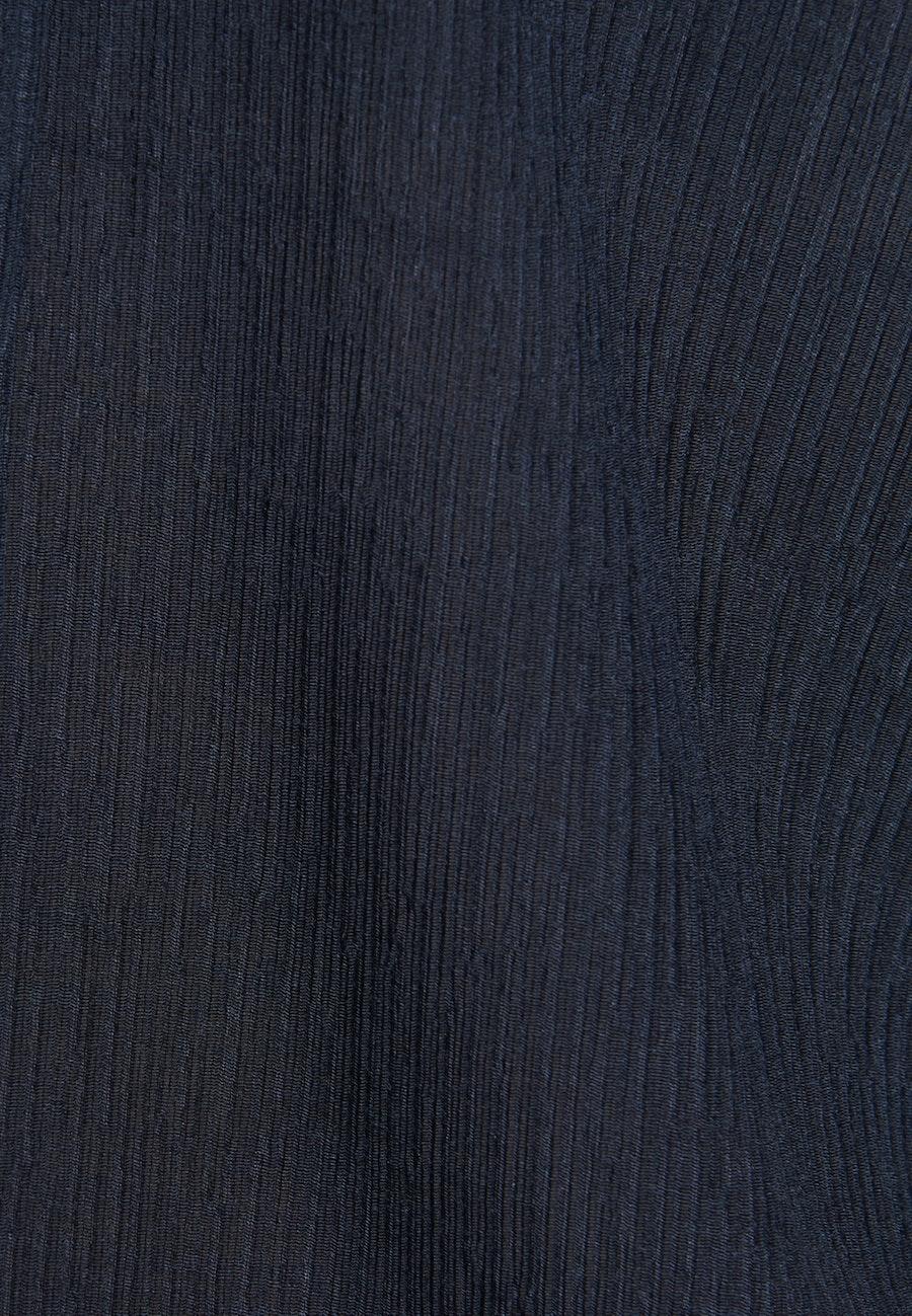 Short sleeve Voile Tie-Neck Blouse made of viscose blend in Dark blue |  Seidensticker Onlineshop