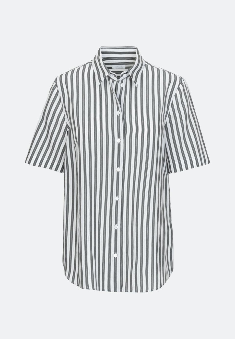 Short sleeve Poplin Shirt Blouse made of viscose blend in Green |  Seidensticker Onlineshop