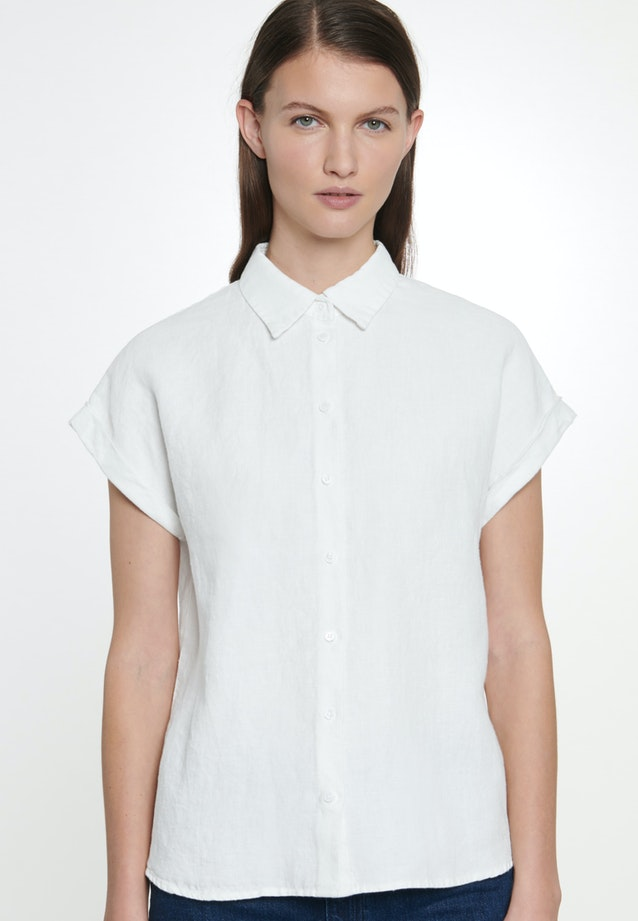 Sleeveless Linen Shirt Blouse made of 100% Linen in White |  Seidensticker Onlineshop