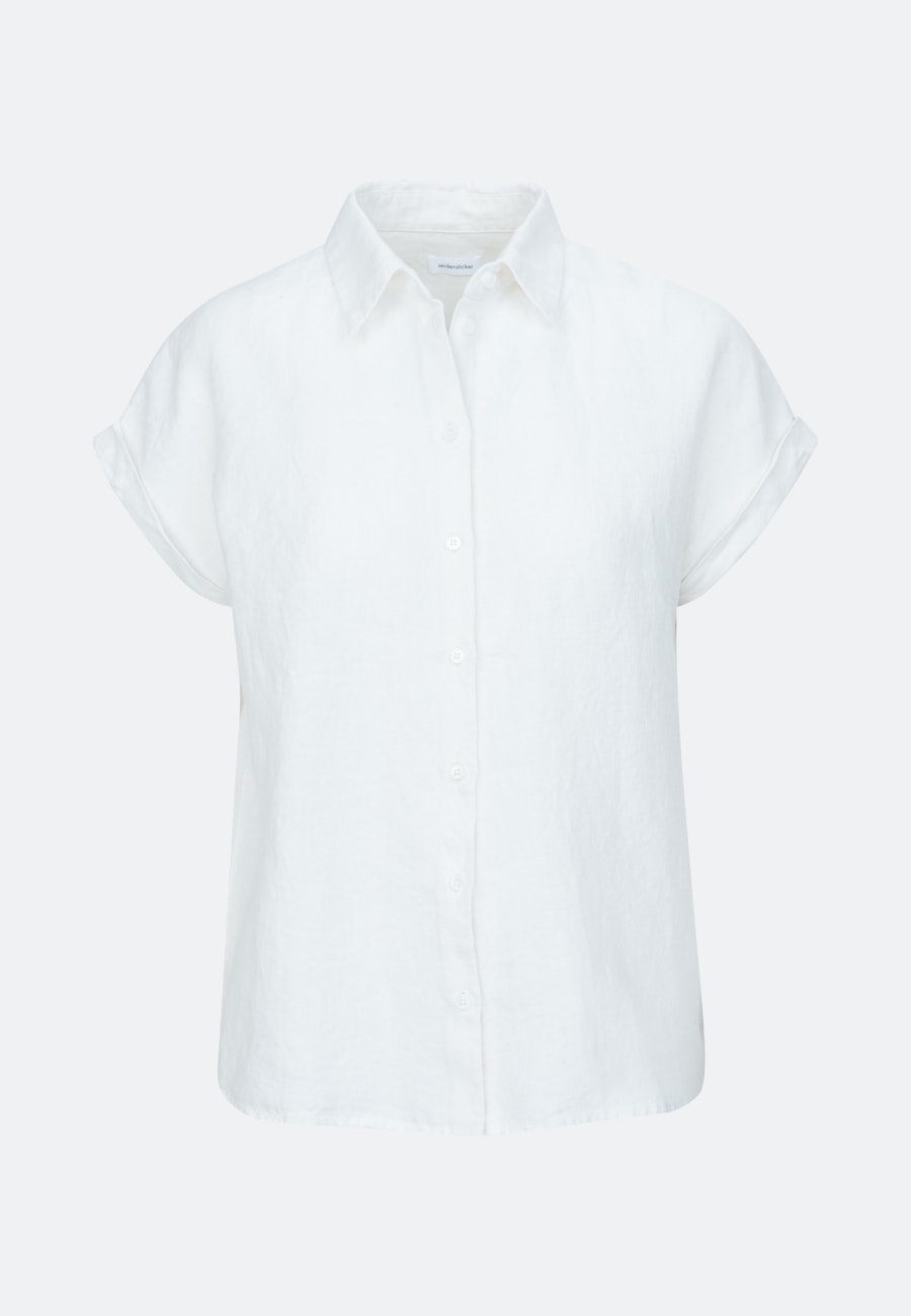 Sleeveless Leinen Shirt Blouse made of 100% Linen in White |  Seidensticker Onlineshop