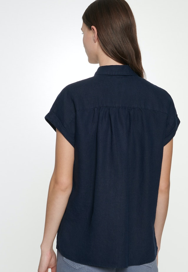 Sleeveless Linen Shirt Blouse made of 100% Linen in Dark blue |  Seidensticker Onlineshop