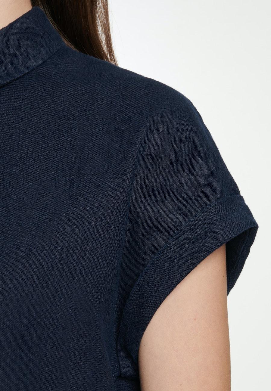 Ärmellose Leinen Hemdbluse aus 100% Leinen in Dunkelblau    Seidensticker Onlineshop