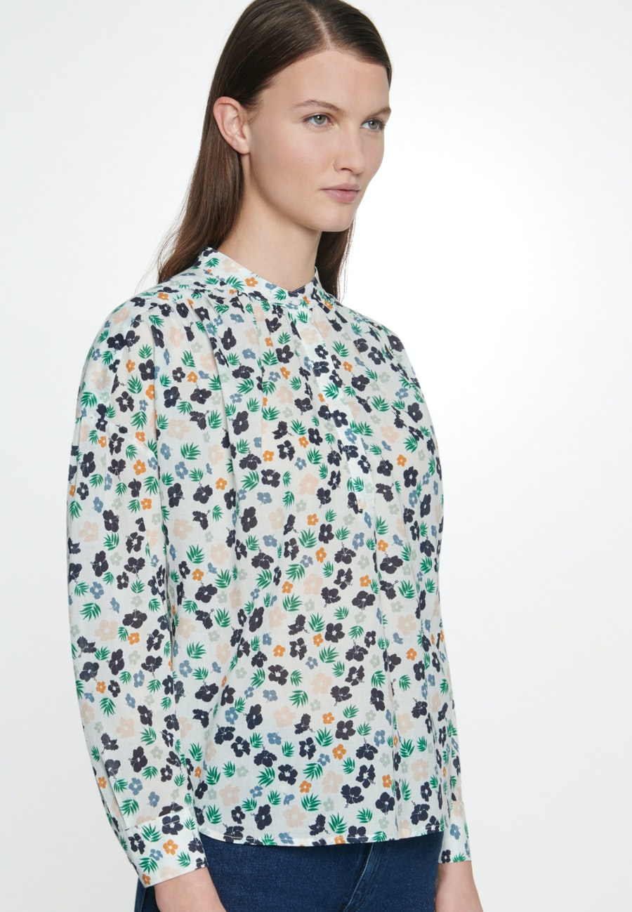 Voile Slip Over Blouse made of 100% Cotton in Ecru |  Seidensticker Onlineshop