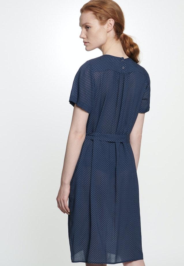 Krepp Midi Kleid aus 100% Viskose in Dunkelblau |  Seidensticker Onlineshop