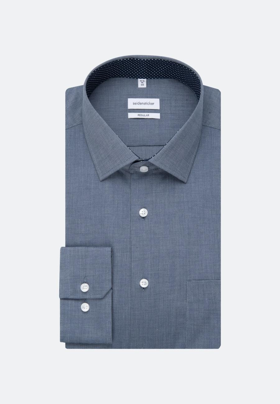 Non-iron Fil a fil Business Shirt in Regular with Kent-Collar in Dark blue |  Seidensticker Onlineshop