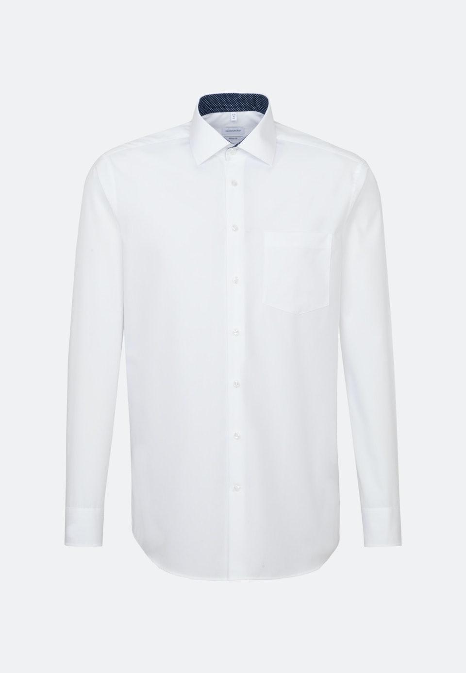 Bügelfreies Fil a fil Business Hemd in Regular mit Kentkragen in Weiß |  Seidensticker Onlineshop
