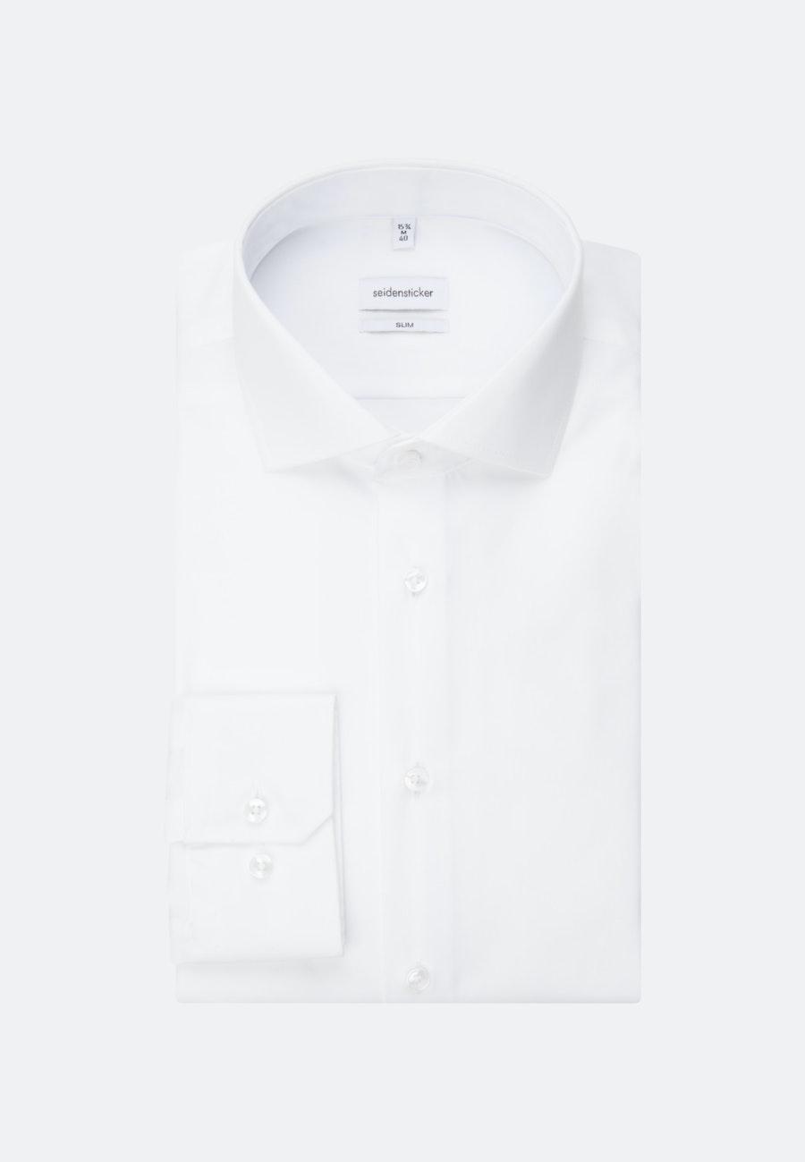Non-iron Fil a fil Business Shirt in Slim with Kent-Collar in White |  Seidensticker Onlineshop