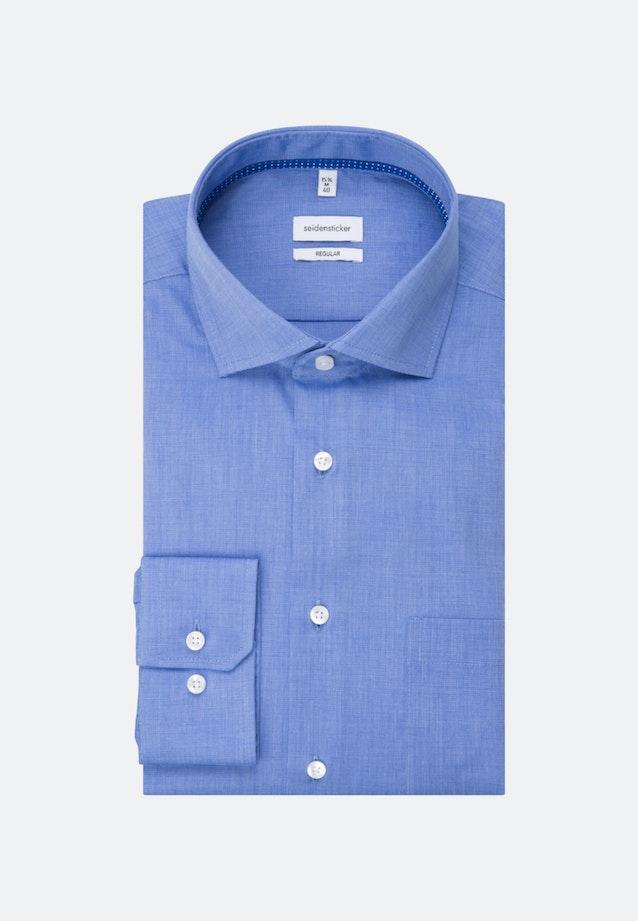 Non-iron Fil a fil Business Shirt in Regular with Kent-Collar in Medium blue    Seidensticker Onlineshop