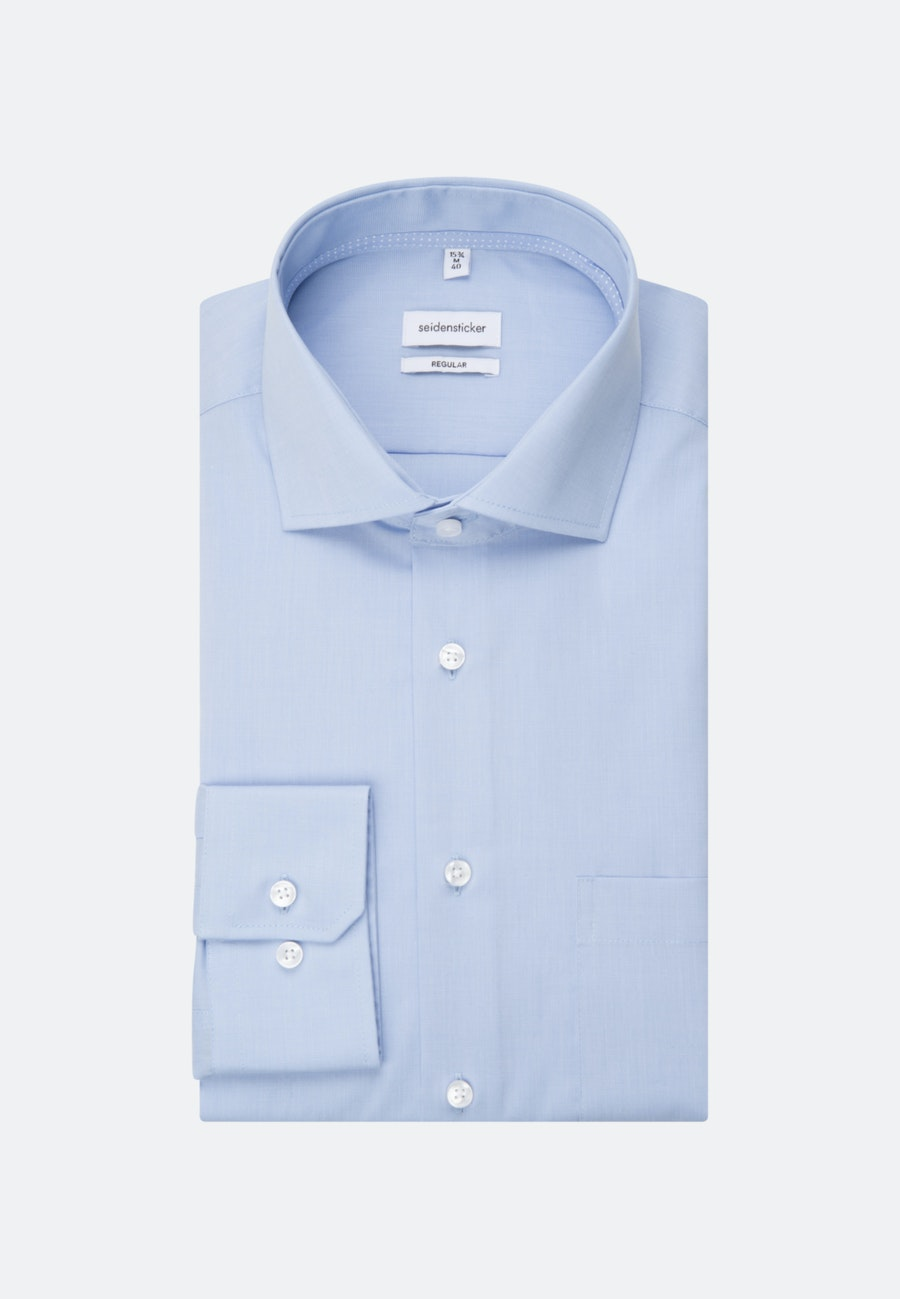 Non-iron Fil a fil Business Shirt in Regular with Kent-Collar in Light blue |  Seidensticker Onlineshop