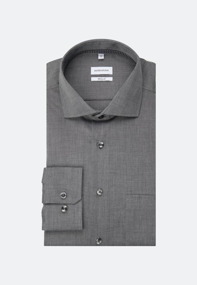 Bügelfreies Fil a fil Business Hemd in Regular mit Kentkragen in Grau |  Seidensticker Onlineshop