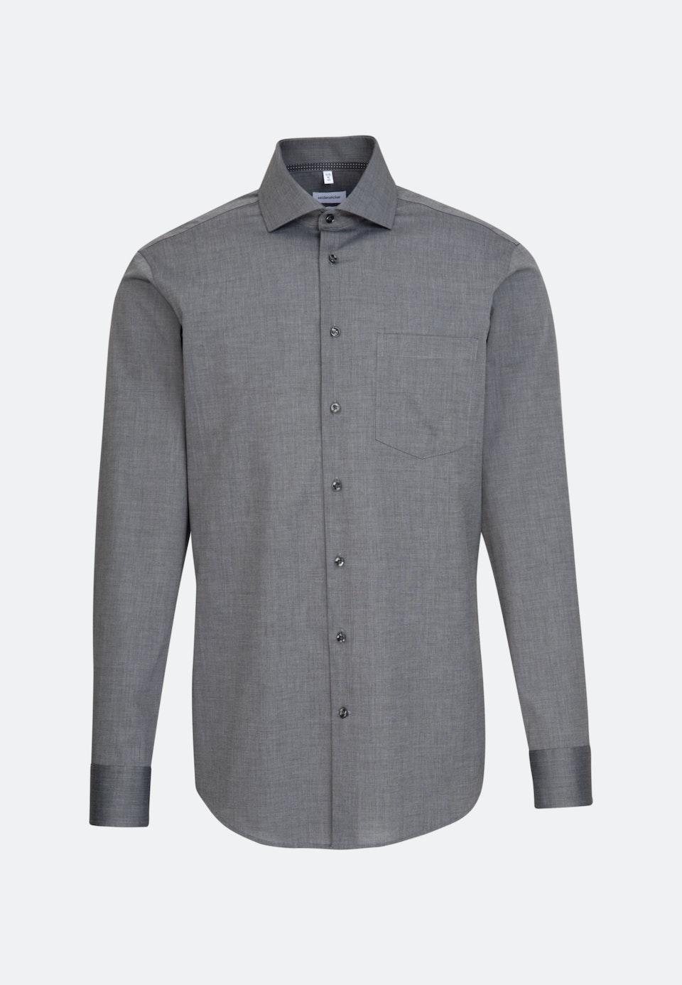 Bügelfreies Fil a fil Business Hemd in Regular mit Kentkragen in Dunkelgrau |  Seidensticker Onlineshop