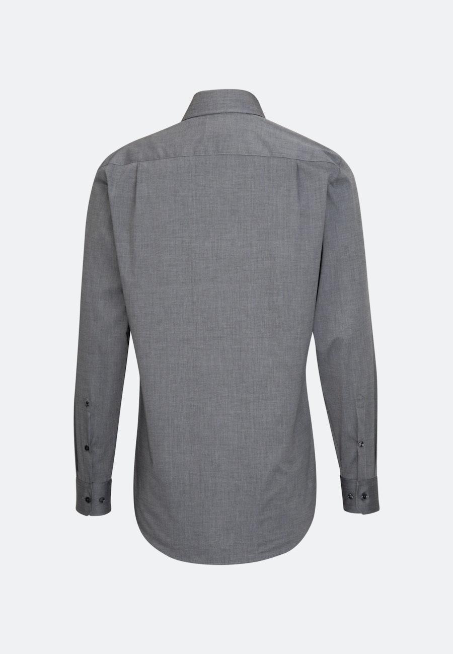 Non-iron Fil a fil Business Shirt in Regular with Kent-Collar in Grey    Seidensticker Onlineshop