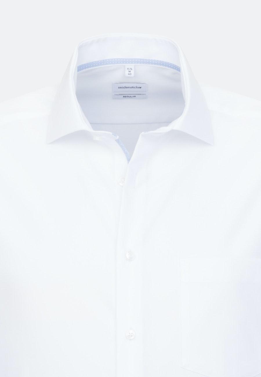 Bügelfreies Fil a fil Business Hemd in Regular mit Kentkragen in Weiß    Seidensticker Onlineshop