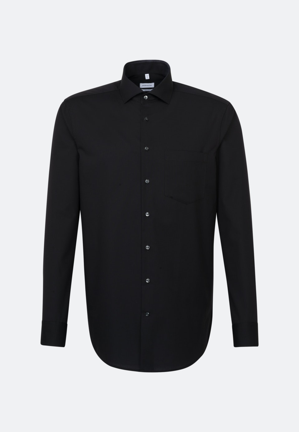 Bügelfreies Fil a fil Business Hemd in Regular mit Kentkragen in Schwarz |  Seidensticker Onlineshop