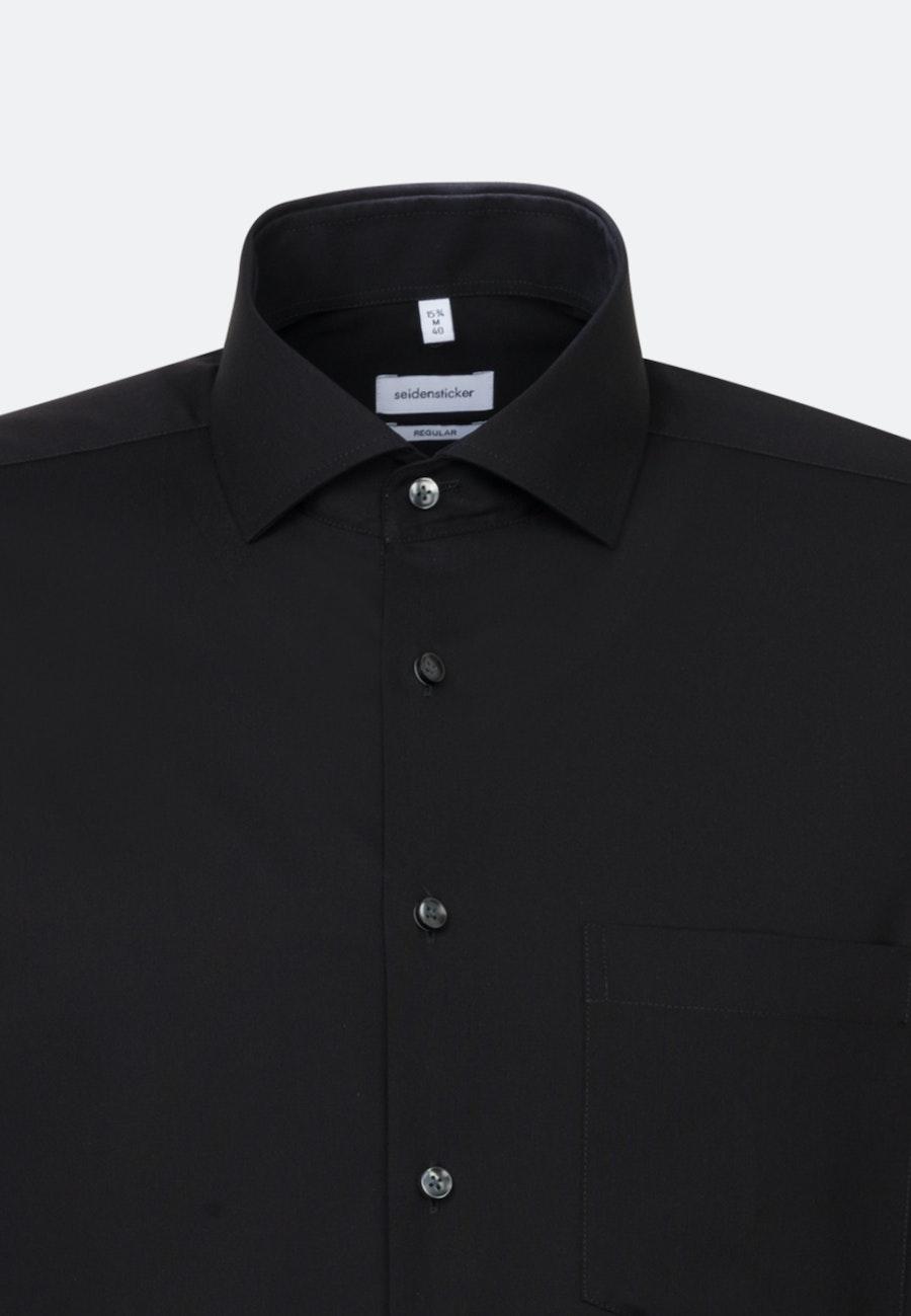 Non-iron Fil a fil Business Shirt in Regular with Kent-Collar in Black |  Seidensticker Onlineshop