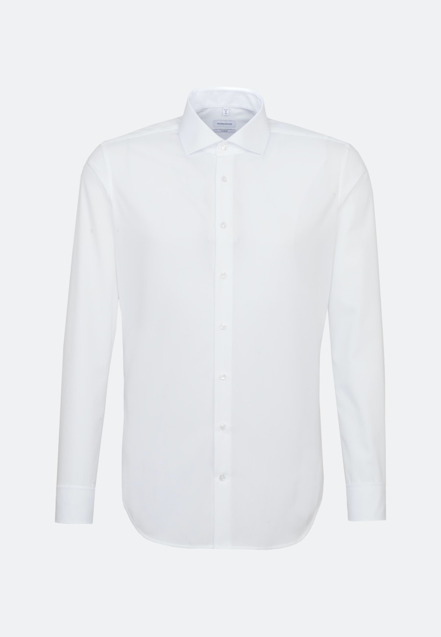 Bügelfreies Popeline Business Hemd in X-Slim mit Kentkragen in Weiß |  Seidensticker Onlineshop
