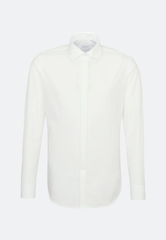 Non-iron Popeline Business Shirt in X-Slim with Kent-Collar in Ecru |  Seidensticker Onlineshop