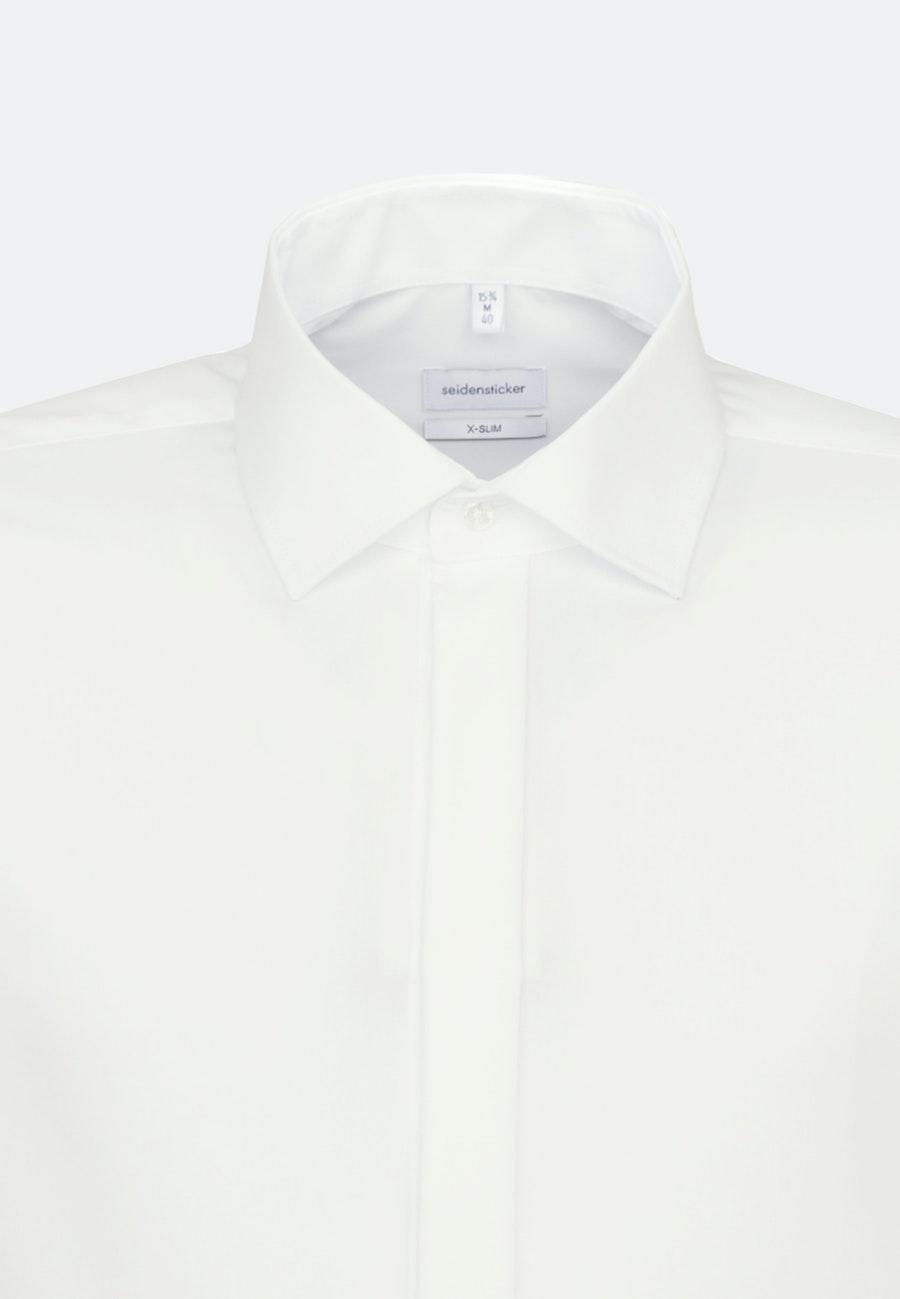 Non-iron Popeline Business Shirt in X-Slim with Kent-Collar in Ecru    Seidensticker Onlineshop