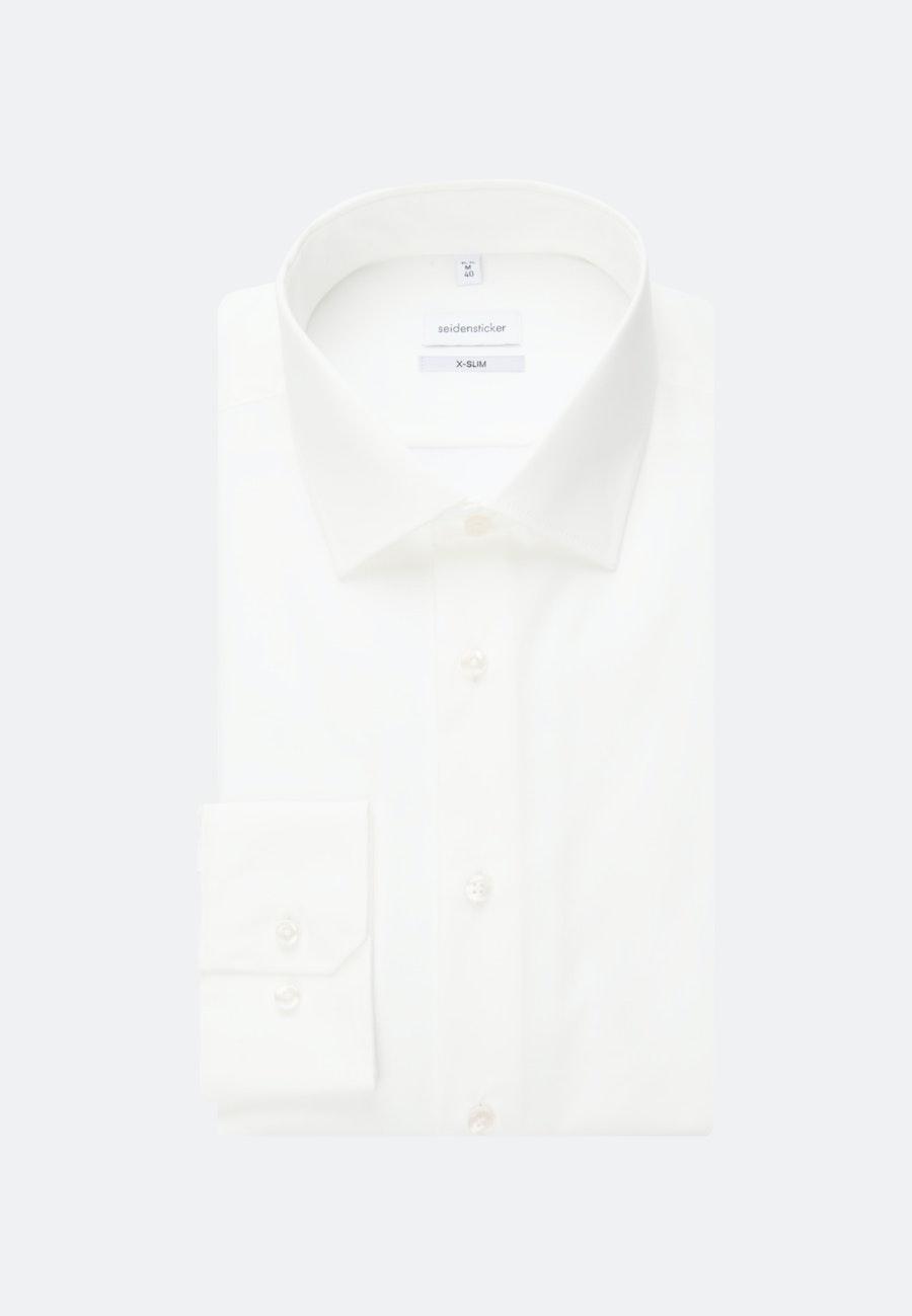 Bügelfreies Popeline Business Hemd in X-Slim mit Kentkragen in Ecru |  Seidensticker Onlineshop