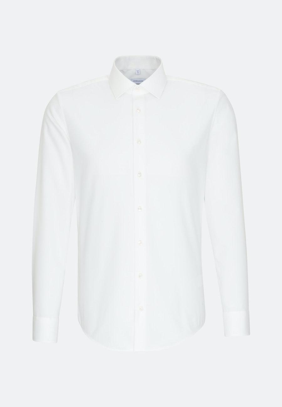 Bügelfreies Popeline Business Hemd in X-Slim mit Kentkragen in Ecru    Seidensticker Onlineshop