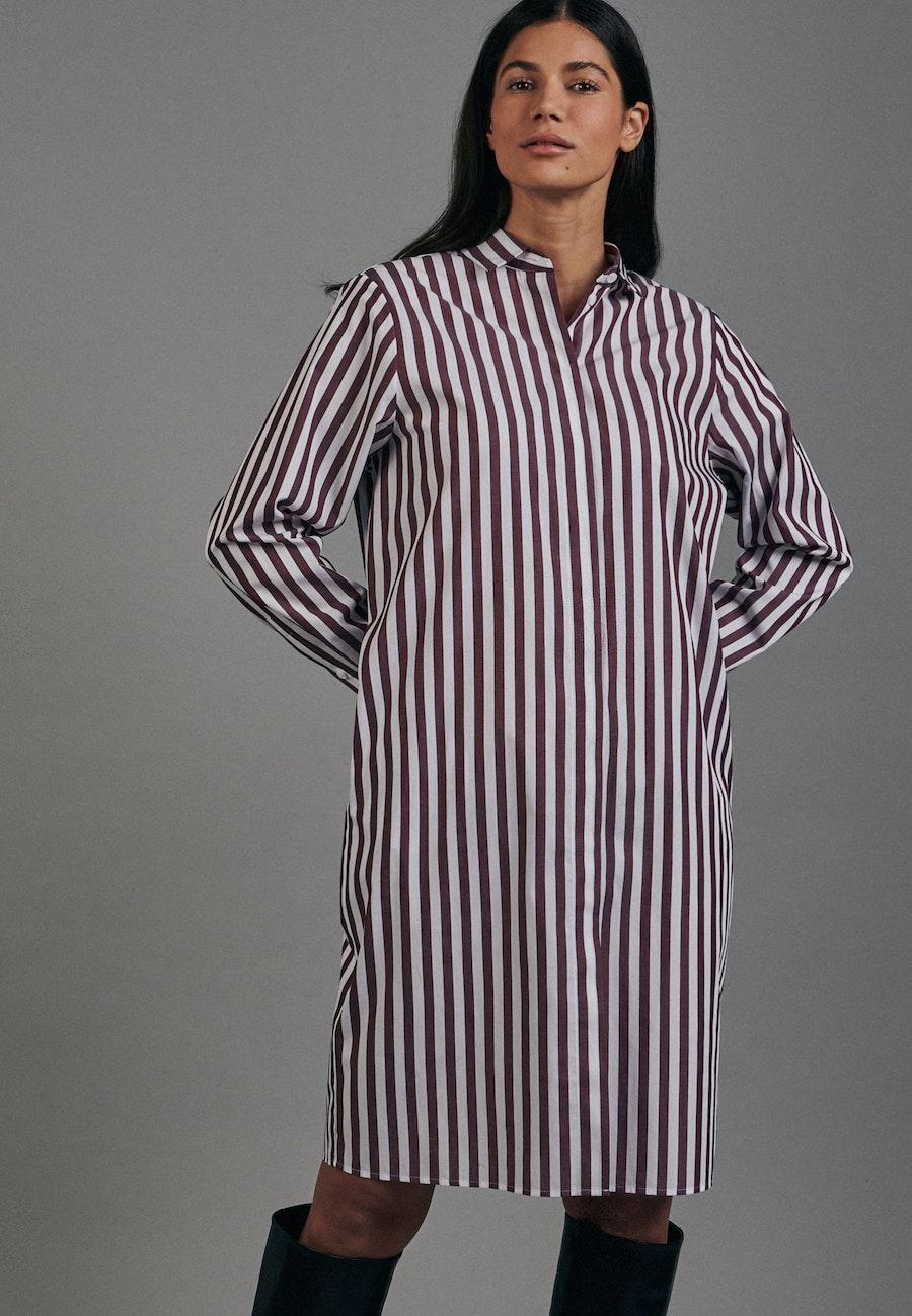 Popeline Midi Dress made of 100% Cotton in Red |  Seidensticker Onlineshop