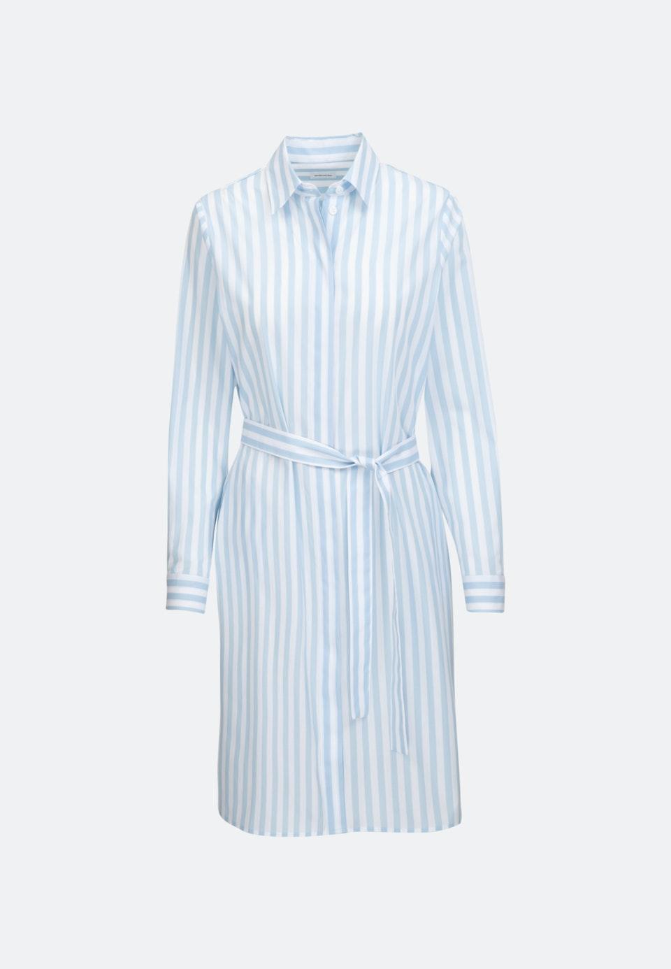 Popeline Midi Kleid aus 100% Baumwolle in Hellblau    Seidensticker Onlineshop
