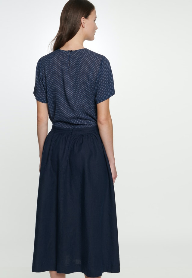 Linen Midi Skirt made of 100% Linen in Dark blue |  Seidensticker Onlineshop