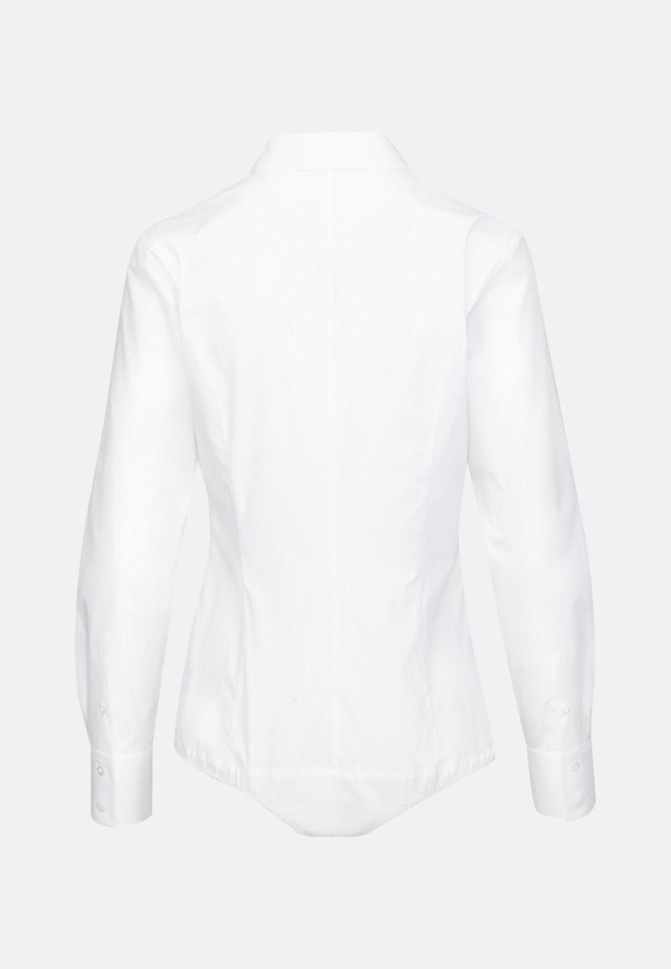 Poplin Body Blouse made of cotton blend in White |  Seidensticker Onlineshop