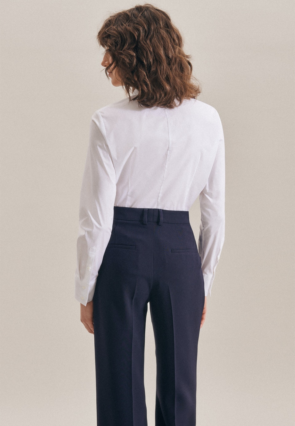 Popeline Body Blouse made of cotton blend in White |  Seidensticker Onlineshop