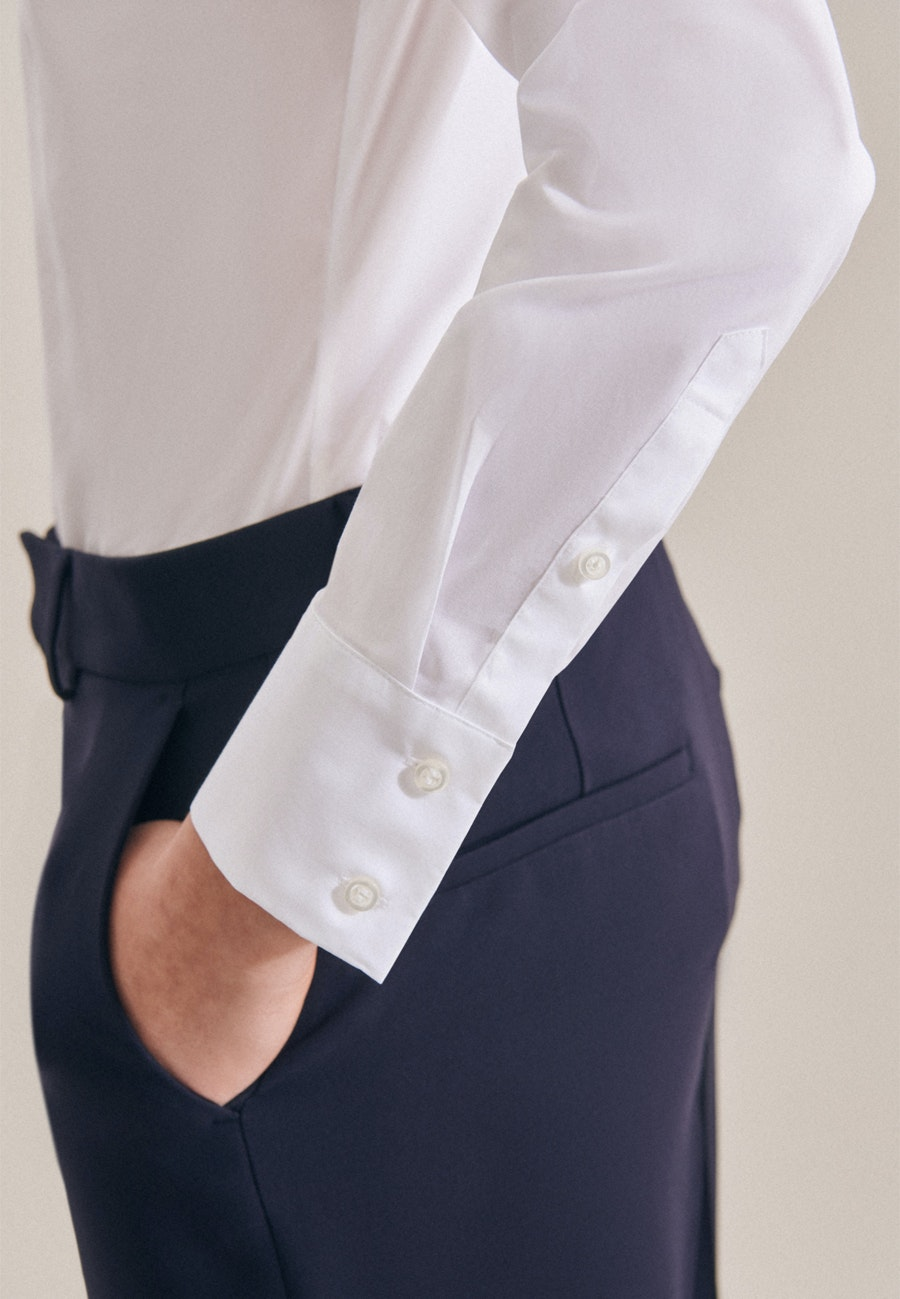 Popeline Body Blouse made of cotton blend in White    Seidensticker Onlineshop