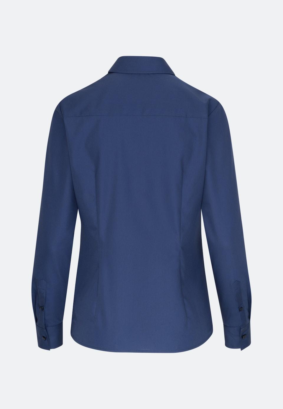 Non-iron Fil a fil Shirt Blouse made of 100% Cotton in Dark blue |  Seidensticker Onlineshop