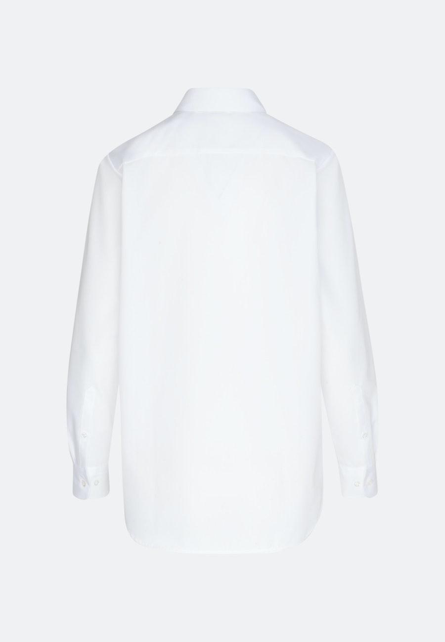 Bügelfreie Fil a fil Hemdbluse aus 100% Baumwolle in Weiß    Seidensticker Onlineshop