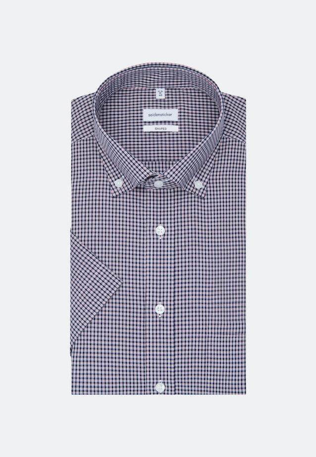 Bügelfreies Popeline Kurzarm Business Hemd in Shaped mit Button-Down-Kragen in Rot |  Seidensticker Onlineshop