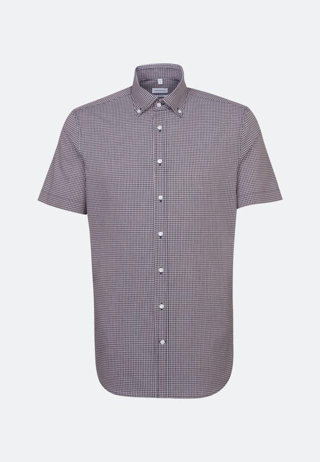 Non-iron Poplin Short sleeve Business Shirt in Shaped with Button-Down-Collar in Red |  Seidensticker Onlineshop