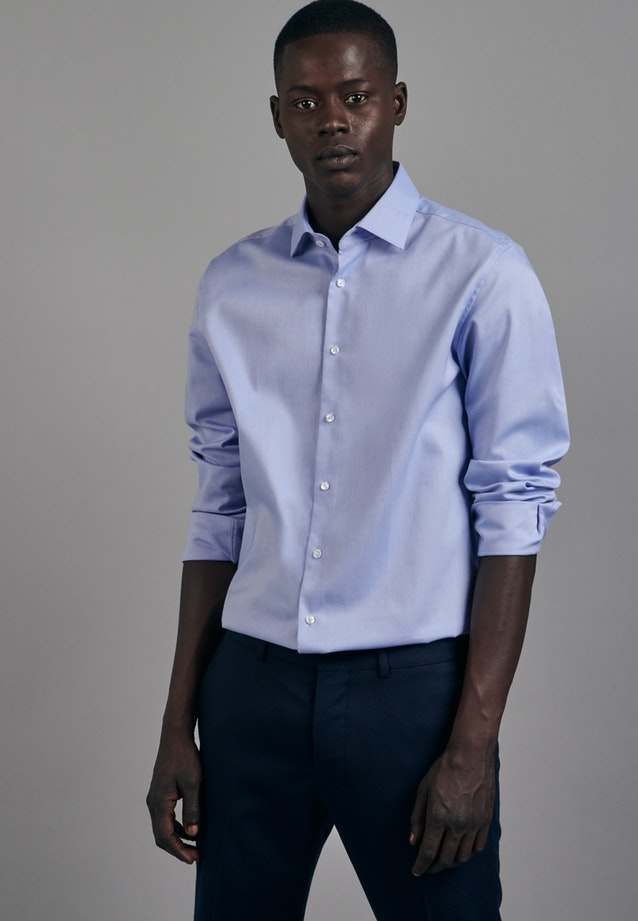 Non-iron Oxford Business Shirt in Slim with Kent-Collar in Light blue |  Seidensticker Onlineshop