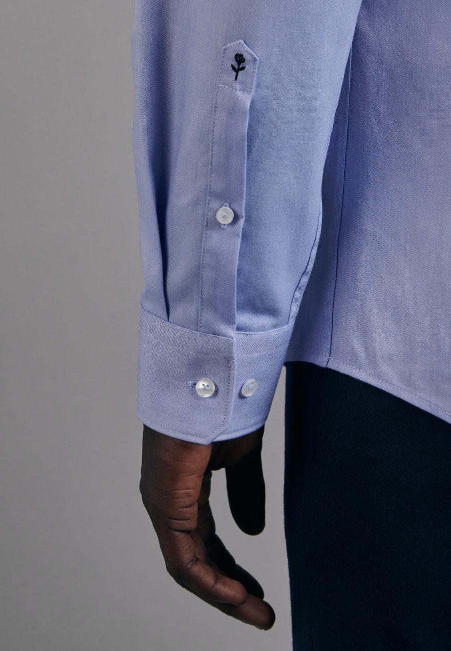 Bügelfreies Oxfordhemd in Slim mit Kentkragen in Hellblau |  Seidensticker Onlineshop