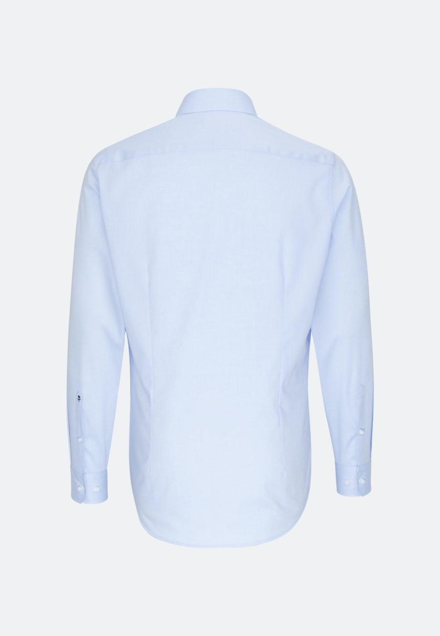 Bügelfreies Chambray Business Hemd in Shaped mit Kentkragen in Hellblau |  Seidensticker Onlineshop