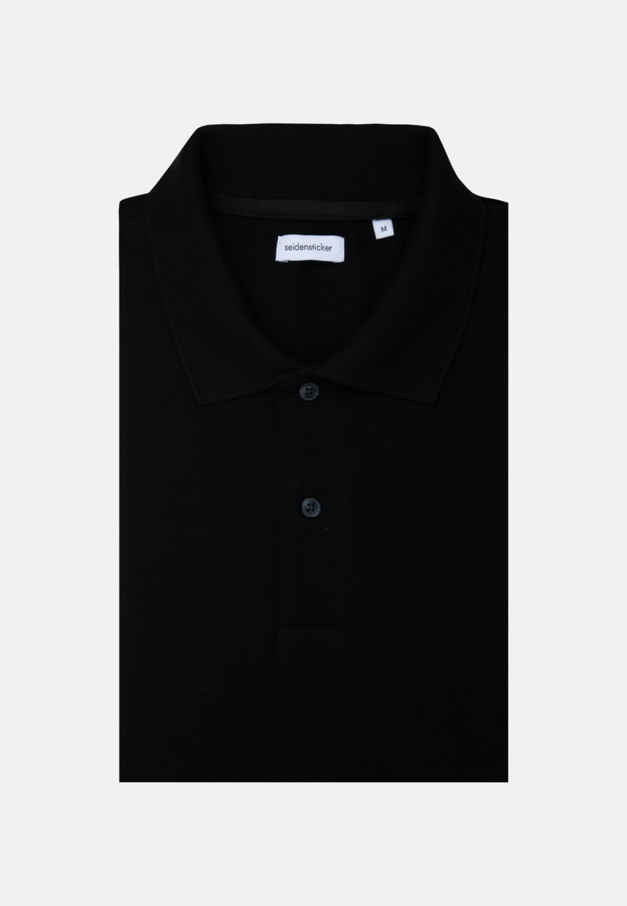 Polo-Shirt made of 100% Cotton in Black |  Seidensticker Onlineshop