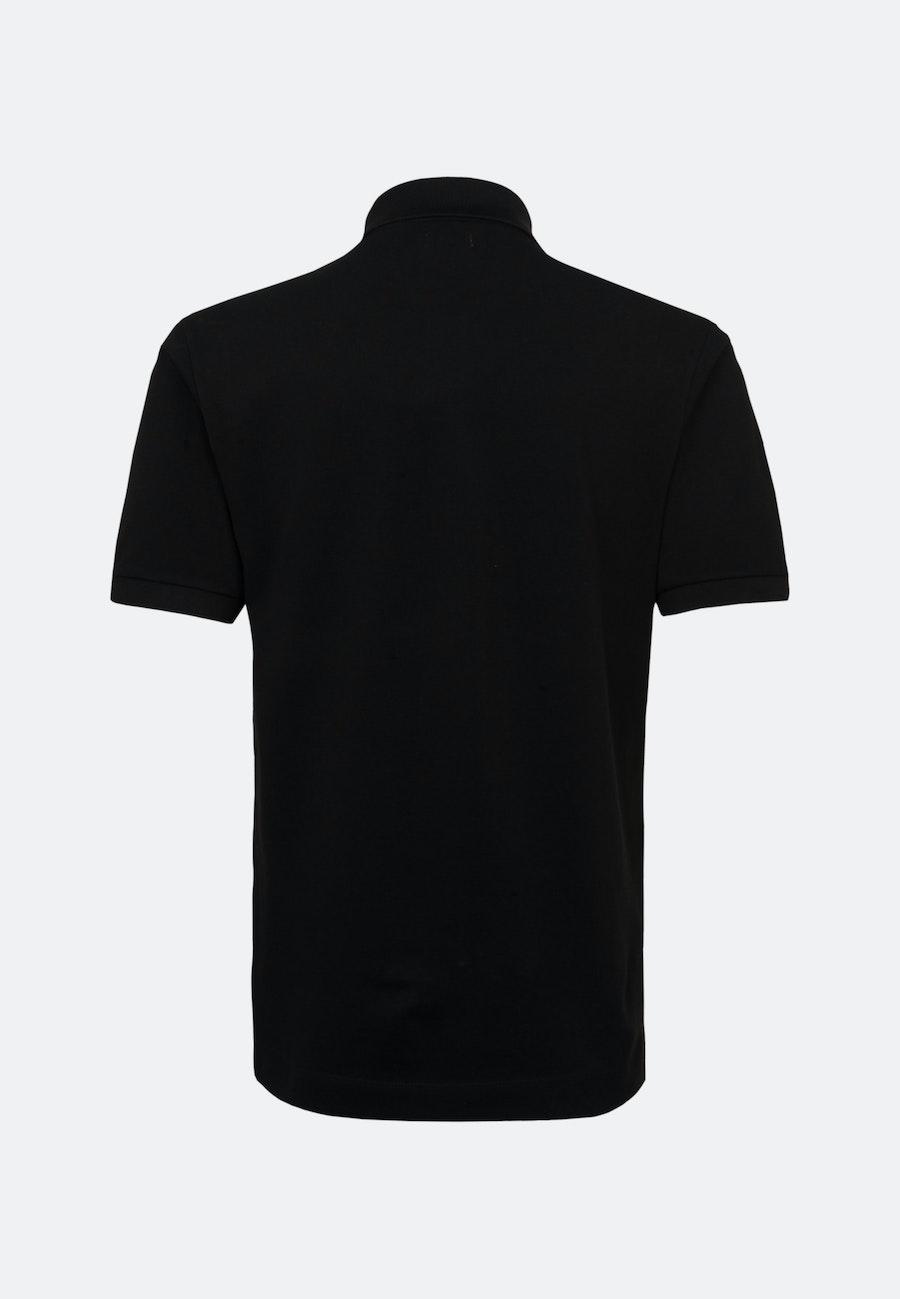 Polo-Shirt made of 100% Cotton in Black    Seidensticker Onlineshop