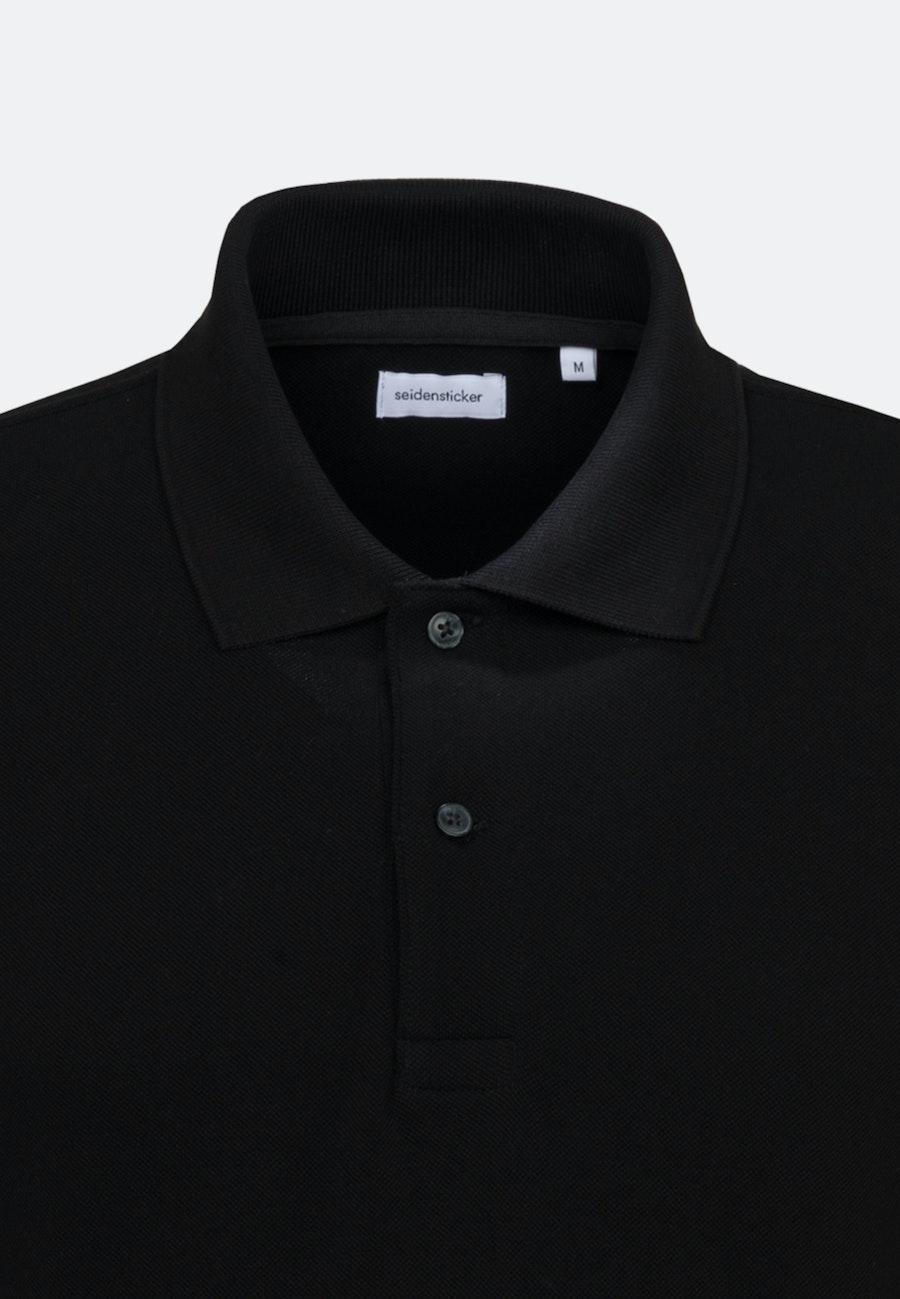 Polo-Shirt aus 100% Baumwolle in Schwarz |  Seidensticker Onlineshop