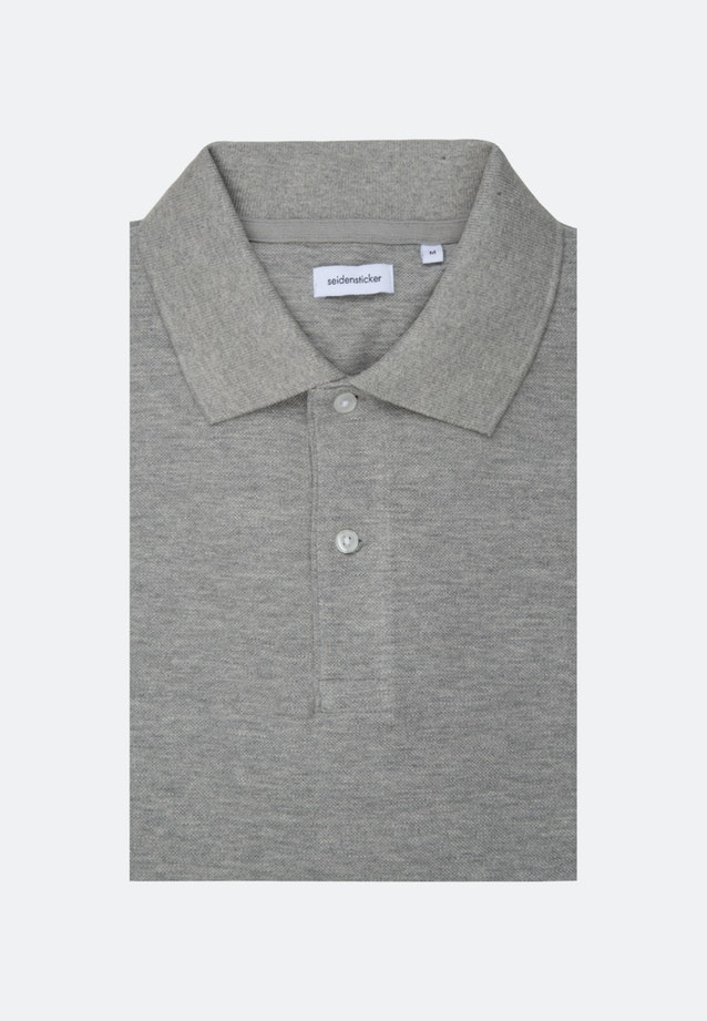 Polo-Shirt aus 100% Baumwolle in Grau |  Seidensticker Onlineshop