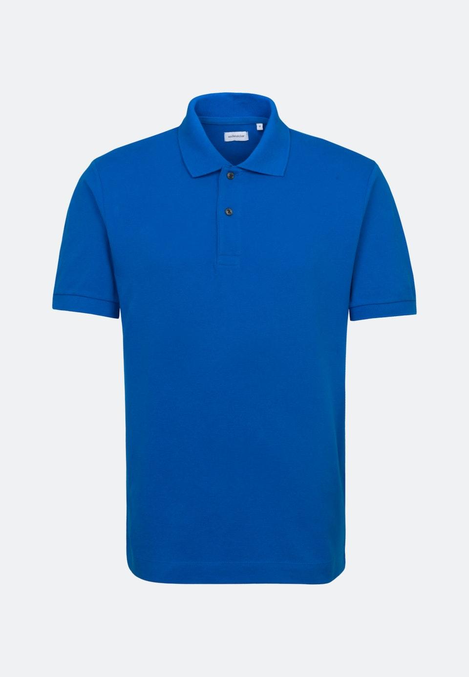 Polo-Shirt made of 100% Cotton in Medium blue |  Seidensticker Onlineshop